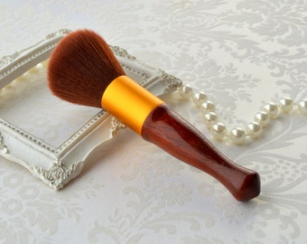 Wood Cosmetic brush, Blush brush, Makeup Applicator, Christmas gift for her, Holiday gift, Beauty Accessories