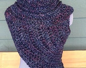 PDF Crochet Pattern - Fitted Half Sweater Cowl Wrap Style - 2 Sizes XS/S & Medium - Huntress, Katniss, Catching Fire, District 12, Hunger