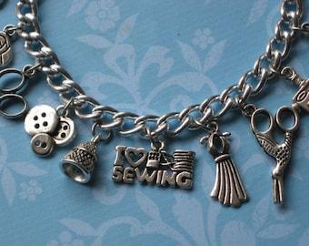 I Love to Sew Charm Bracelet