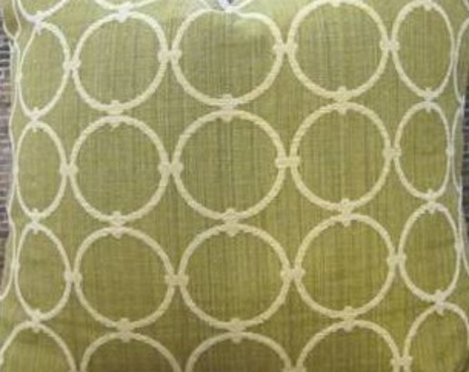 SALE Designer Pillow Cover - Sphere geometric Chenille Green - 12 x 16,  16 x 16