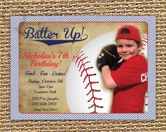 Baseball Birthday, Baseball Invitation, Printable Invite, Photo Invitation, Sports Party, All Star Invitation, Sports Birthday, 1st Birthday
