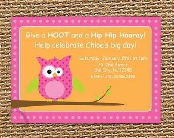 Owl Invitation, Owl Birthday, Baby Shower, Printable Invitation, Owl Party, Birthday Invitation, Owl Invite, First Birthday, Owl Baby Shower