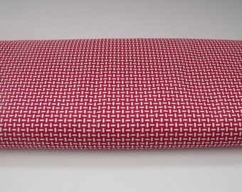 Red and White Cotton Fabric -  Fabric Finders - 1 Yard