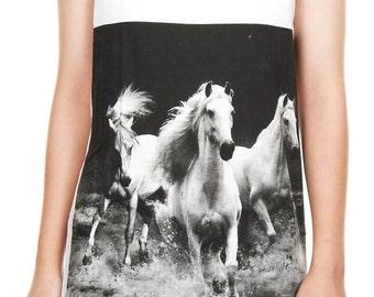 Unicorn Shirt Unicorn Tank Top Unicorn White Horse Animal Women Shirt Tunic Top Vest Sleeveless Tank Top Size M, L, XL - JWT67
