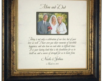 Wedding Photo Frame Parents of the Bride Parents of the Groom Wedding Gift picture frame, CELEBRATION OF LOVE 16x16
