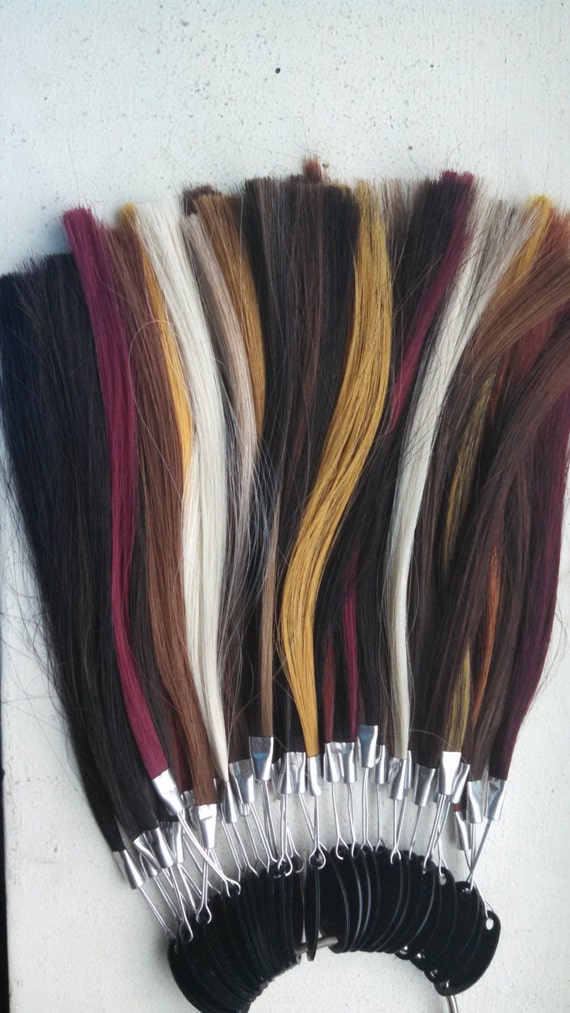 Items Similar To Synthetic Hair Color Ring  Natural Kanekalon Hair Colors