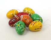 Colored Wooden Eggs German 8