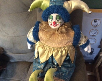 Jester doll vintage highly collectible excellent vintage condition porcelain