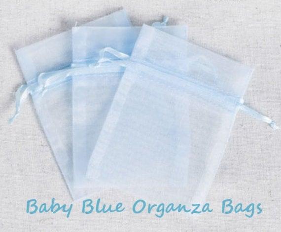 Wedding Favor Bags Organza : Organza Bags Wedding Favors Organza Bags 100 Baby Blue Sheer Bridal ...