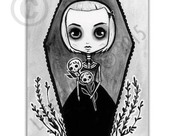 Creepy Alexandra 8x10 art print by Lupe Flores