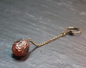 Boucles d'oreille collection kaina. Cornaline