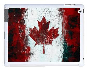 iPad 2/3/4 - iPad Mini - snap on plastic case - Canadian Flag Grit design