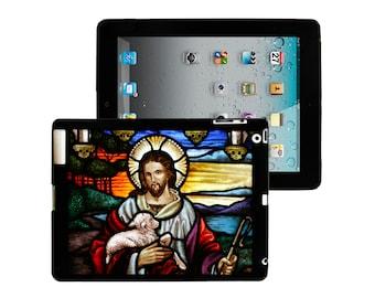 iPad 2/3/4 - iPad Mini - snap on plastic case - Jesus Christ Stained Glass
