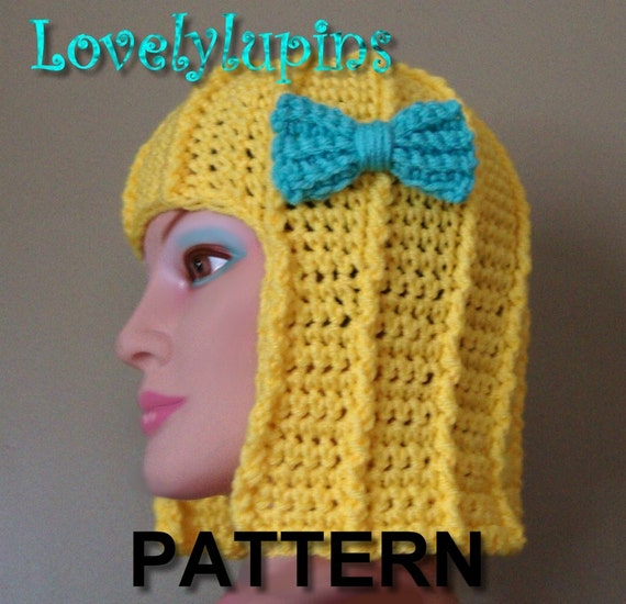 Crochet Hair Video Download : crochet hair hat or wig Hat, crochet pattern, cute stylish hat,easy to ...