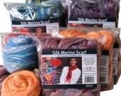 Felted Silk/Merino Scarf Kit