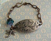 Butterfly Bracelet with Dragonfly Charm