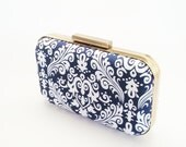 navy weddings, navy clutch, mod clutch, bridal accessories, bridesmaids gift, navy and mint weddings, navy bridesmaids, navy minaudiere