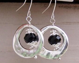 Custom Birthstone earrings Swarovski crystal metal dangling earrings