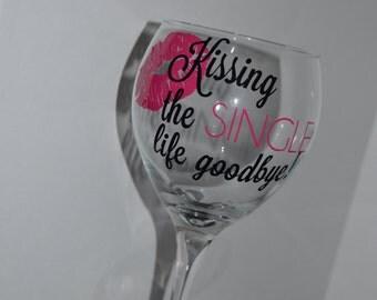 Personalized Bachelorette Wine Glasses