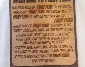 Rules of Fight Club - Wall Art