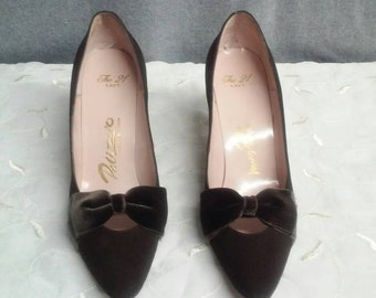 Brown suede pumps, Palizzio, 8AA