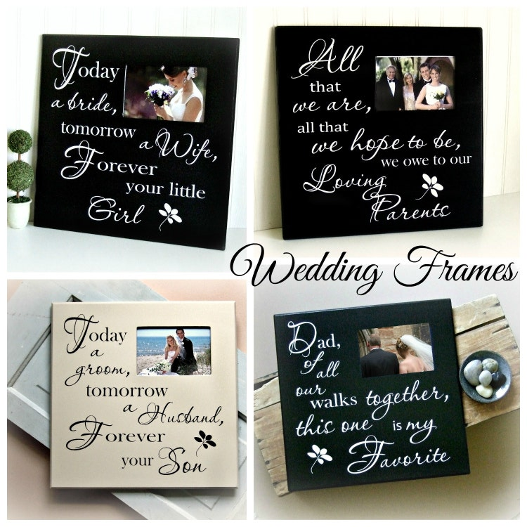Parents Wedding Gift Picture Frame-Loving Parents by MulberryCreek