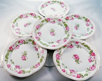 SALE: Six Antique Mignon Luncheon Plates by Z.S.&Co Bavaria