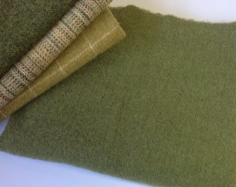 New Leaf Green, Wool fabric for Rug Hooking and Applique, Select-a-Size, J886, Bright Green Wool, Mill Dyed Wool Fabric
