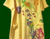 Tropical Fish CoverUp or SleepShirt for Plus Sizes