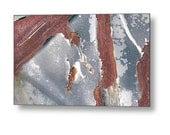 "20"" x 11"" Metal Wall Art, Peeling Paint, Rusty, Junk Yard, Fine Art Photography by Glennis Siverson"