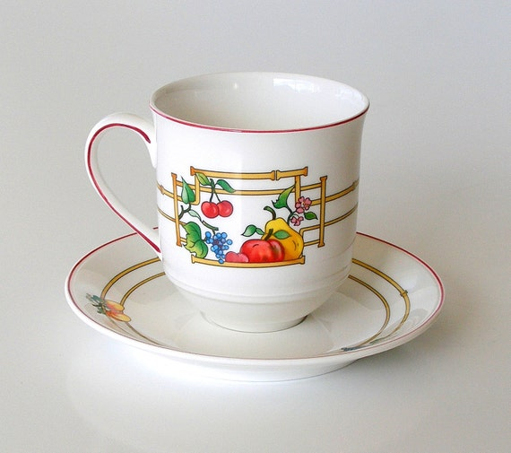 villeroy and boch luxembourg mon jardin coffee mug by retrogroovie. Black Bedroom Furniture Sets. Home Design Ideas