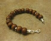 mens bracelet, walnut wood, wood bracelet, leather bracelet, jewelry men, womens wood bracelet, mens jewelry, mens wood bracelet,