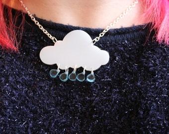 Rainy Day Laser Cut Cloud necklace