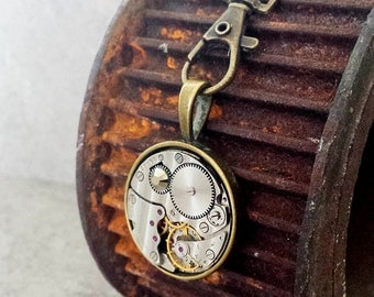 SALE - Hooked on Steampunk - Vintage watch with a Swarovski Crystal