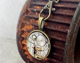 SALE - Hooked on Steampunk - Vintage watch with a Swarovski Crystal