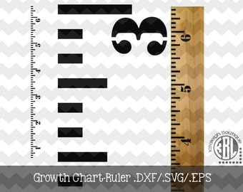 Growth Ruler.DXF/.SVG/.EPS File for use with your Silhouette Studio Software