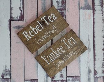 Beverage Sign Tea Sign Sweet Tea Sign Unsweet Tea Sign Wedding Drink Sign Wedding Sign Country Wedding Rustic Wedding Wood Sign