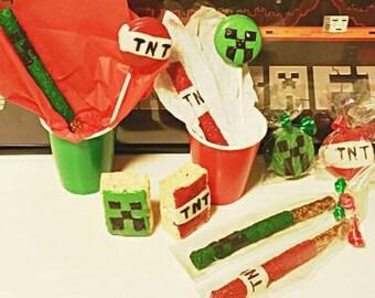 3 Dz Minecraft inspired  party favors 36 minecraft party favors minecraft treats