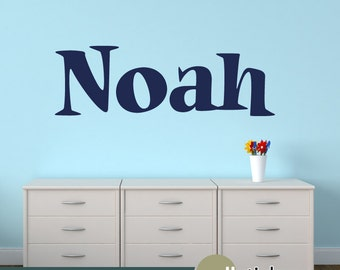Boys Name Wall Decal - Personalized Childrens Wall Decal - Nursery Wall Decal Decor - Vinyl Wall Decal - WD0389
