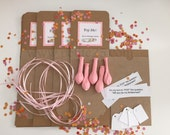 One (1) - DIY Pop the Balloon kit, secret message inside, will you be my bridesmaid, proposal, bridal party, bridal favor, secret message