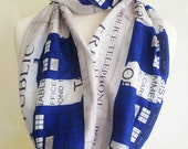Nerdy Gifts,  Police Box Scarf By Rooby Lane