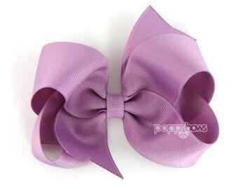 Sugar Plum Girls Hair Bows, 4 inch hair bows, purple hair bow, big hair bow, boutique bows, large hair bow, girl hair bows, toddler hairbows