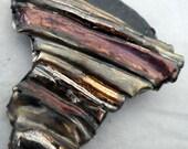 Mixed Lustre Folded Ribbon Pendant