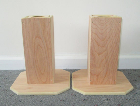 Dorm Room Bed Risers, 10 Inch All Wood Construction, Unfinished Square  Design - Raise