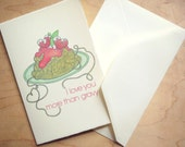 I Love You More Than Gravy 4x6 Notecard - Italian Love Letter