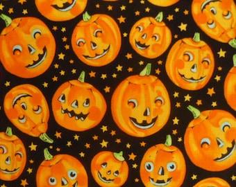 Alexander Henry, Trick or Treat, Pumpkins (6738BR), Halloween Fabric, Holiday Fabric