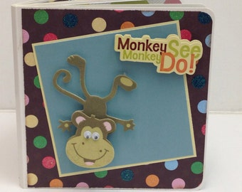 Monkey Scrapbook premade pages sock monkey