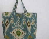 Teal Large Cary-all // On the Go Bag //  Stylish tote bag