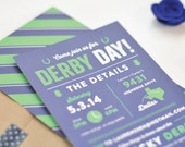 Derby Day Party Invitations - Kentucky Derby Party Invitations - Horse Racing Party Invitations
