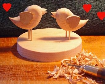 DIY Wedding Cake Topper - two lovebirds - ready to finish Your Way